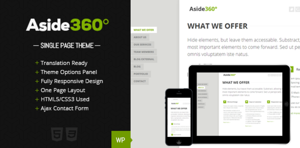 Aside 360° – Responsive single page portfolio