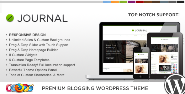 WP Journal Responsive WordPress Theme