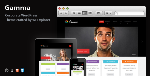 Gamma – Responsive Multi-Purpose WordPress Theme