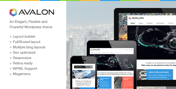Avalon – a Responsive and Modern WordPress Theme