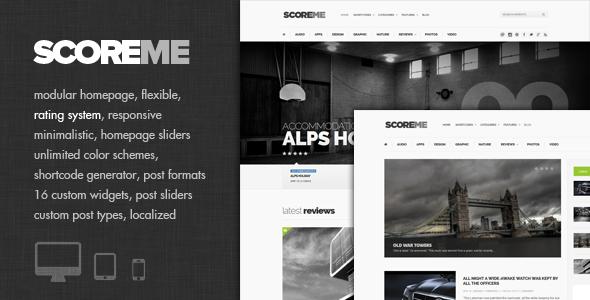 Scoreme – Rating & Responsive Magazine/Blog Theme