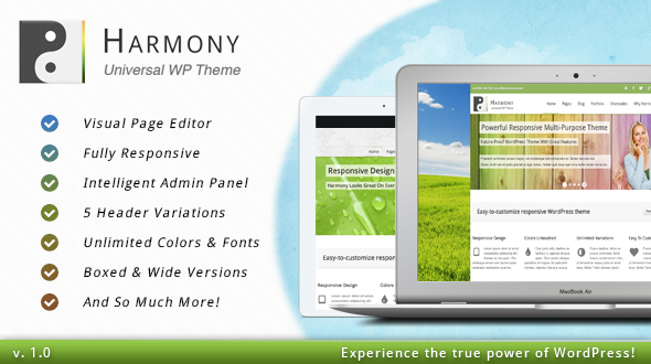Harmony – Responsive WordPress Theme