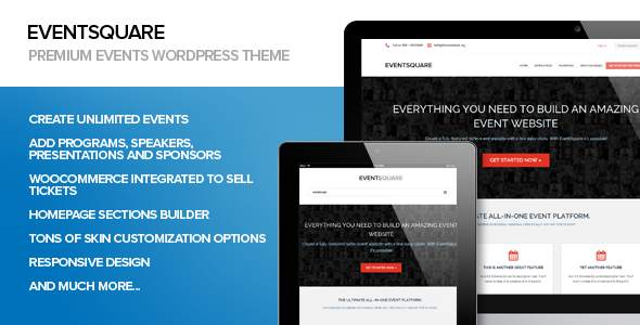 EventSquare Event Management WordPress Theme