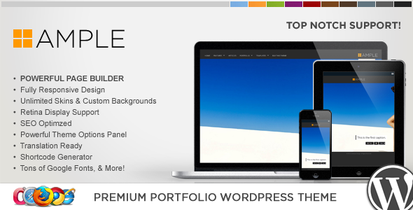 WP Ample Responsive Portfolio WordPress Theme
