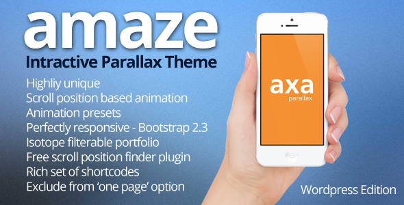 AMAZE – WordPress Interactive Parallax Theme