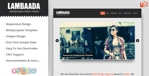 Lambaada – Responsive WordPress MultipurposeTheme