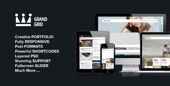 GrandGrid – Responsive Portfolio Theme