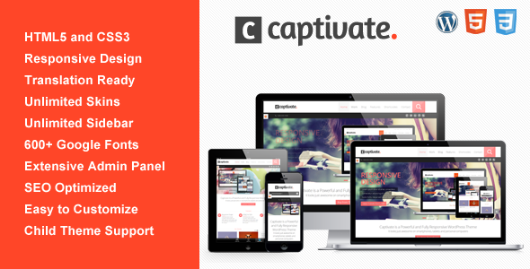 Captivate – Responsive Multi-Purpose WP Theme