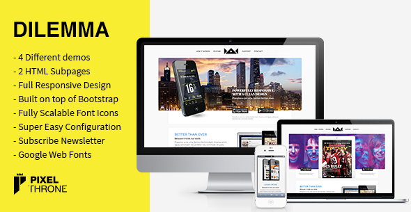 Dilemma – WordPress Multi-Purpose Landing Page