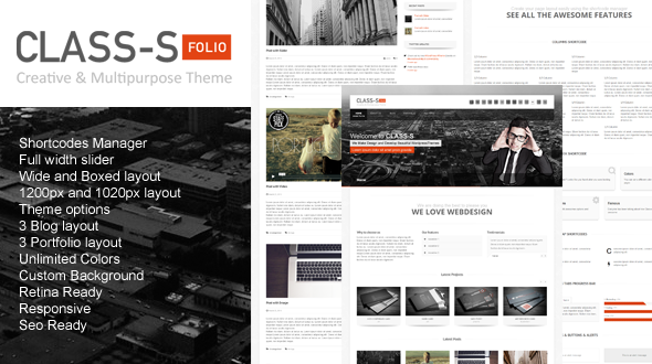 Class-S – Premium Multipropose WordPress Theme
