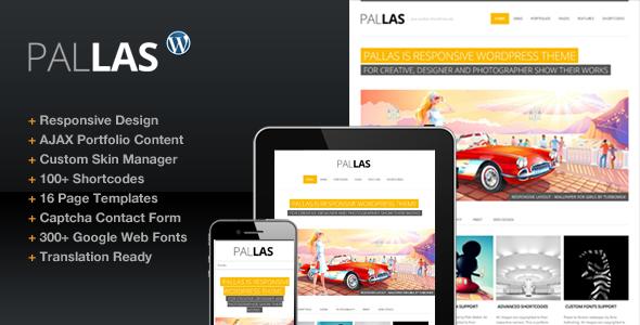 Pallas Creative Designer Portfolio Theme