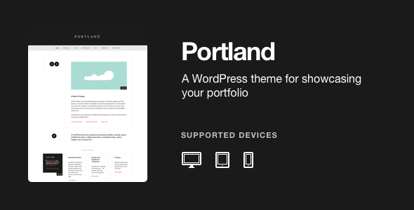 Portland – A WordPress Portfolio Theme