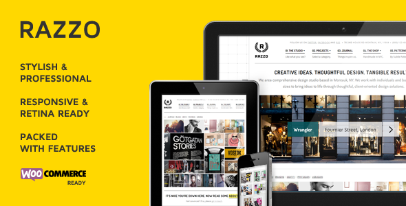Razzo Premium Business / eCommerce WordPress Theme