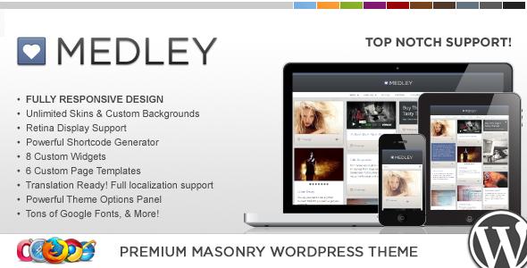 WP Medley Responsive WordPress Blog Theme