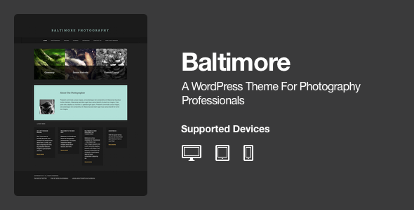 Baltimore – WordPress Photography Theme