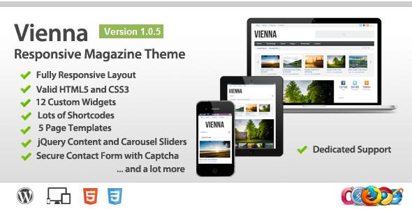 Vienna – Responsive WordPress Magazine Theme