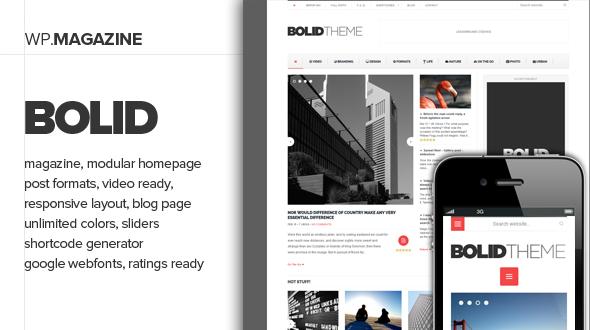 Bolid – Responsive News, Magazine and Blog Theme