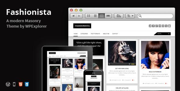 Fashionista – Responsive WordPress Blog Theme