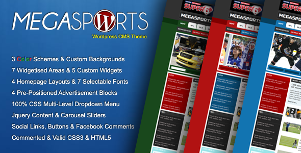MegaSports CMS WordPress Theme