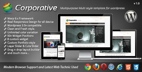 Corporative Responsive WordPress Template