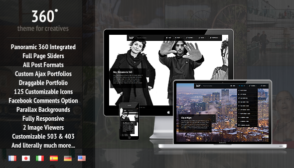 360 – Panoramic WordPress Theme