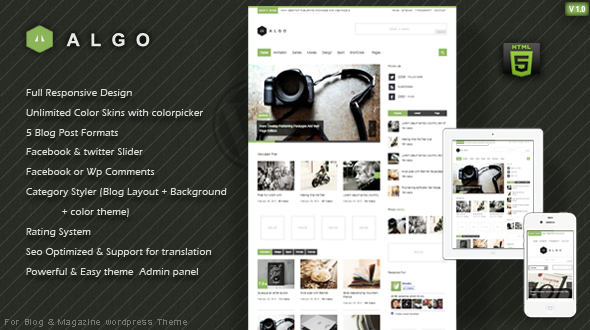 Algo – Responsive WordPress Theme