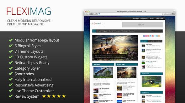 FlexiMag: Clean, Modern, Responsive Premium WP Magazine