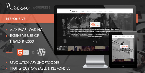 Necon WP – Responsive Onepage theme for creatives