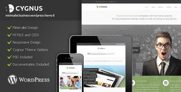 Cygnus – Minimalist Business WordPress Theme 8