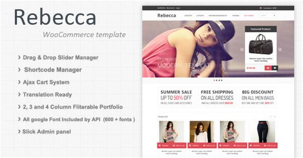 Rebecca – Premium Responsive WooCommerce theme
