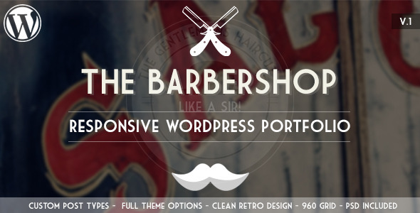 The Barbershop – Responsive WordPress Portfolio