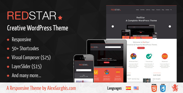 RedStar – A Creative WordPress Theme