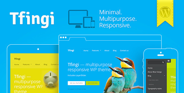 Tfingi – Responsive Multipurpose WordPress Theme