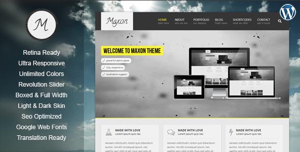 Maxon – Retina Responsive Multi-Purpose WP Theme