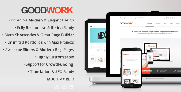 GoodWork – Modern Multi-Purpose Responsive Theme