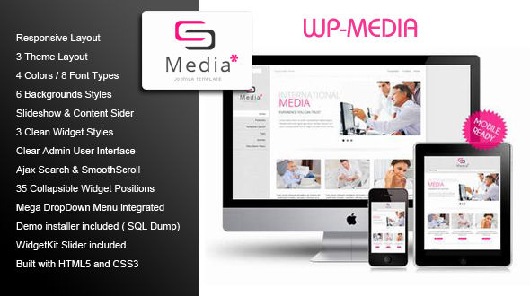 WP-Media | Business WordPress Theme
