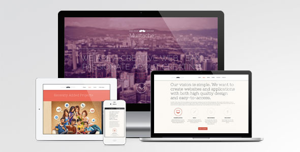 Mustache – Onepage Retina WordPress Theme