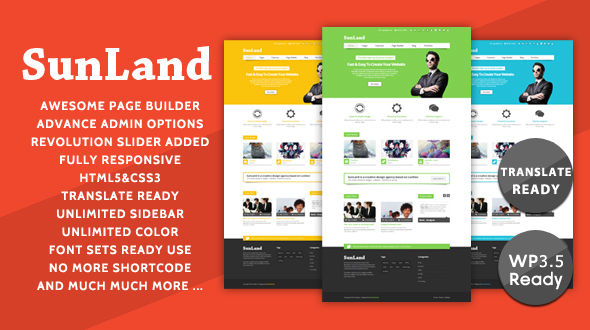 Sunland – Modern Business WordPress Theme