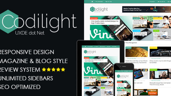 Codilight – Beautiful Responsive Blog/Magazine Theme