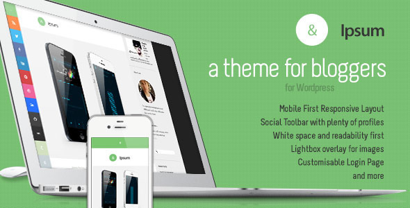 Ipsum Social Blogging Responsive WordPress Theme