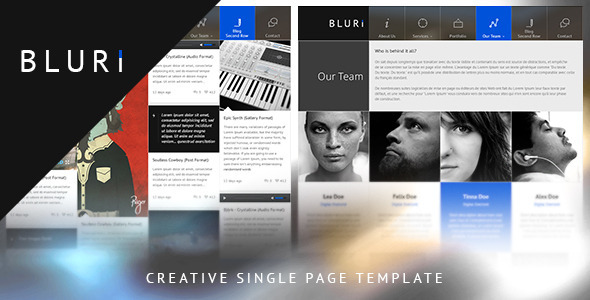 BLURI Single Page WordPress Theme