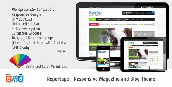 Reportage – Magazine & Blog Theme