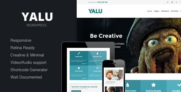 Yalu – Creative Multipurpose Template – WordPress
