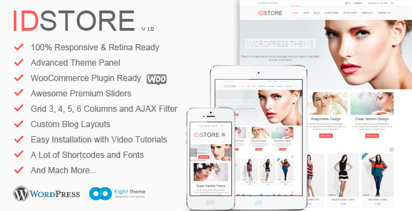 IDStore – Responsive Multi-Purpose Ecommerce Theme