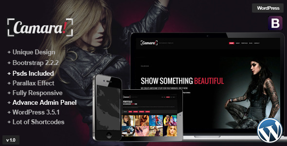 Camara – Parallax WordPress One Page Theme