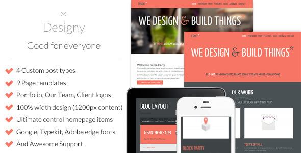 Designy: A design led Business WordPress theme