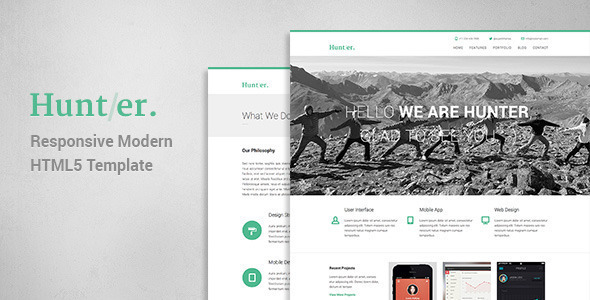 Hunter – Responsive Modern WordPress Theme