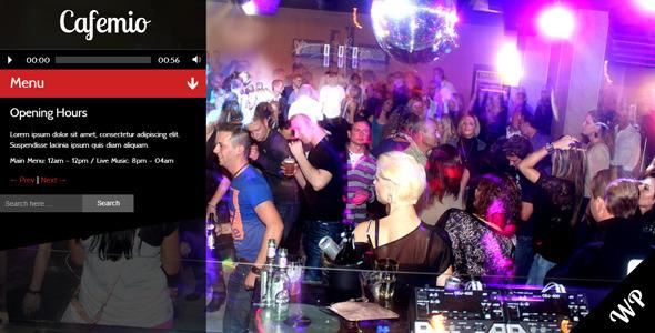 Cafemio Ajax, Club, Bar, Cafe, Restaurant WP Theme