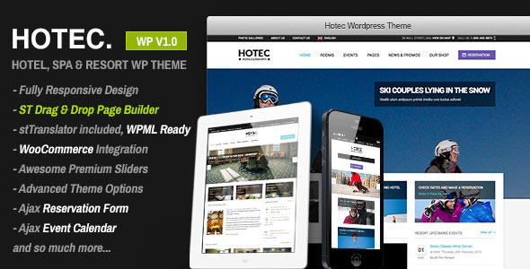 Hotec – Responsive Hotel, Spa & Resort WP Theme