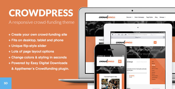 CrowdPress – A Crowd-funding WordPress Theme